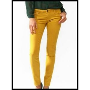 Forever 21 Mustard Yellow Skinny Stretch Jeans 27